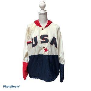 Vintage U.S.A. Legends windbreaker pullover Size L